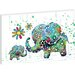 Artist Lane Blooming Elephants by Karin Taylor Art Print Wrapped on Canvas