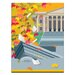 Artist Lane Autumn Library' by Alan Annells Graphic Art Unwrapped on Canvas