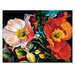 Artist Lane 'Sceaming Poppies 2' by Shani Alexander Art Print on Wrapped Canvas