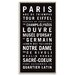 Artist Lane 'Paris' by Tram Scrolls Framed Typography on Wrapped Canvas