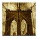 Artist Lane 'Brooklyn Bridge' by Andrew Paranavitana Photographic Print on Wrapped Canvas