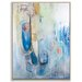 Artist Lane 'Out of the Blue' by Julie Ahmad Framed Art Print on Wrapped Canvas