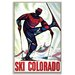Artist Lane 'Ski Colorado' Framed Graphic Art on Wrapped Canvas