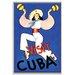 Artist Lane 'Visit Cuba' Framed Vintage Advertisement on Wrapped Canvas