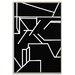 Artist Lane 'Geometric 1' by Chalie MacRae Framed Art Print on Wrapped Canvas