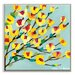 Artist Lane 'Maggie Yellow' by Anna Blatman Framed Art Print on Wrapped Canvas