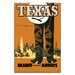 Artist Lane 'Texas' Vintage Advertisement on Wrapped Canvas