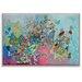 Artist Lane 'Suave y blando corazon' by Lia Porto Framed Art Print on Wrapped Canvas
