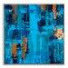 Artist Lane 'Tealbay' by Sabina Klein Art Print Wrapped on Canvas