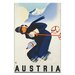 Artist Lane 'Ski Austria' Vintage Advertisement on Wrapped Canvas