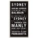 Artist Lane 'Sydney 2' Framed Typography on Wrapped Canvas