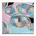 Artist Lane 'Pastel Rocks 2' by Sherren Comensoli Art Print on Wrapped Canvas