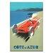 Artist Lane 'Cote Dazur' Vintage Advertisement on Wrapped Canvas
