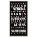 Artist Lane 'Europe 3' by Tram Scrolls Framed Typography on Wrapped Canvas
