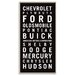 Artist Lane 'Muscle Car USA' Framed Typography on Wrapped Canvas