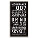Artist Lane 'James Bond' by Tram Scrolls Framed Typography on Wrapped Canvas