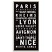 Artist Lane 'France' Framed Typography on Wrapped Canvas