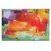 Artist Lane 'Orange Attack' by Amira Rahim Art Print Wrapped on Canvas