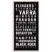 Artist Lane 'Melbourne 1' by Tram Scrolls Typography Wrapped on Canvas