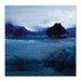 Artist Lane 'Blue Lagoon' by Lydia Ben-Natan Art Print Wrapped on Canvas