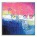 Artist Lane 'Pink Sunset' by Brenda Meynell Framed Art Print on Wrapped Canvas