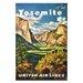 Artist Lane 'Yosemite' Vintage Advertisement on Wrapped Canvas