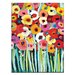 Artist Lane 'Shell's Poppies' by Anna Blatman Art Print Wrapped on Canvas