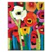 Artist Lane 'Anna's Poppies' by Anna Blatman Framed Art Print on Wrapped Canvas