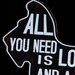 ChâteauChic All You Need Is Love Typography Plaque