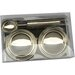ChâteauChic 3 Piece Stainless Steel Ice Cream Set in Chrome