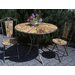 Château Chic Energicus Round Steel and Wood Dining Table