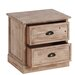 ChâteauChic Industrial 2 Drawer Bedside Table