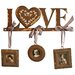 """Vintage Boulevard Hannah """"Love"""" Coat Hook with Picture Frame"""
