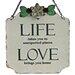 "Vintage Boulevard Ashton ""Life / Love"" Wall Decor"