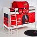 Wrigglebox Ida Disney Cars European Single Bunk Bed