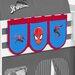 Wrigglebox Spiderman Bunk Bed Pockets