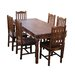 Ethnic Elements Ganga Sheesham Dining Table and 6 Chairs