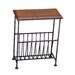Ethnic Elements Ganga Sheesham Kerala Iron Magazine Rack