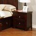 All Home Gabbin 2 Drawer Bedside Table