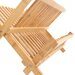 All Home Bamboo Folding Dish Rack in Natural