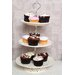 All Home 27 cm Ceramic Lace Cake Plate in Cream