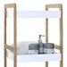 All Home Low Narrow 80cm Accent Shelves
