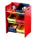 All Home Three Tier Coloured Storage Bin Unit