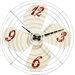 All Home 38cm Retro Fan Wall Clock