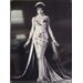 All Home Girl in Long Dress Tin Sign Photographic Print Plaque