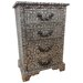 All Home Repousse Antiqued 4 Drawer Bedside Table