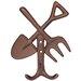 Homestead Living Milbrook Cast Iron Fork and Spade Wall Hook