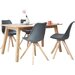 Homestead Living Barton Dining Table and 4 Chairs