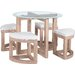 Homestead Living Freddie Dining Table and 4 Chairs