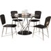 Homestead Living Gabriel Dining Table and 4 Chairs